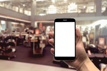 blurred photo, Blurry image,People shopping in  Department Store, background