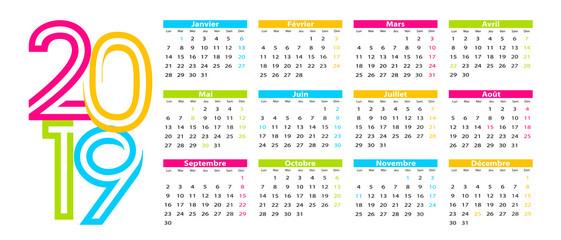 calendrier 2019 avec jours fériés canada