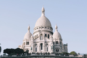 Low angle view of Basilique Du Sacre Coeur against clear sky