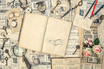Antique collectible goods books postcards news paper vintage