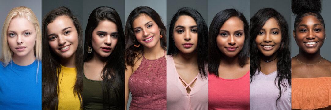 Group Of Diverse Teen Girls