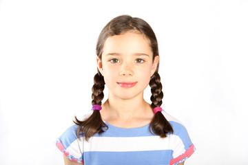 Siebenjähriges Mädchen im Porträt