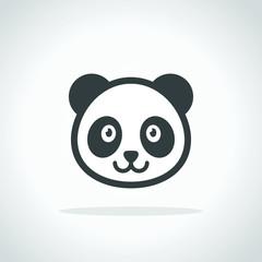 Panda icon. Logo
