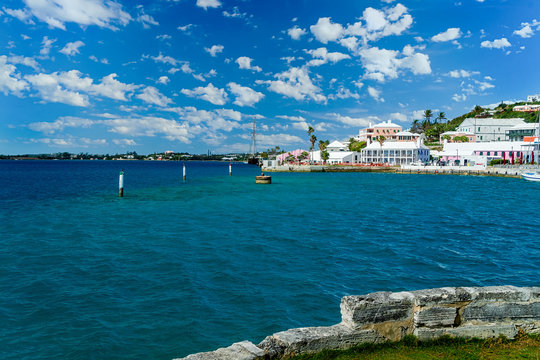 The waterfront of the town of St. George's, Bermuda.