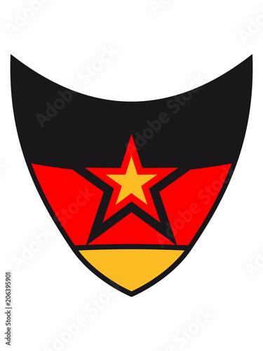 stern schild muster wappen 3 farben deutschland nation schwarz rot gold flagge design logo cool - Stern Muster