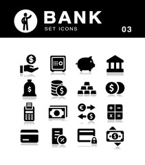 Bank and payment methods icon collection.