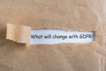 General Data Protection Regulation GDPR - What will change, Data Protection Concept. Text on torn envelope