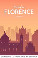 Florence famous city scape.
