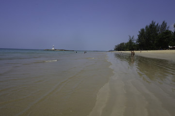 wonderful beach and ocean in thailand in the summertime