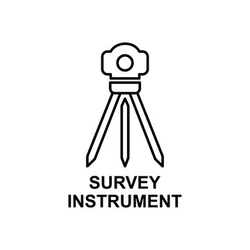 survey instrument icon. Element of measuring instruments icon with name for mobile concept and web apps. Thin line survey instrument icon can be used for web and mobile