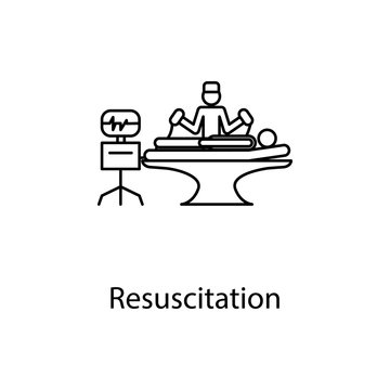 resuscitation icon. Element of medicine icon with name for mobile concept and web apps. Thin line resuscitation icon can be used for web and mobile. Premium icon