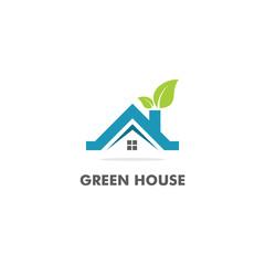 green house fresh vector logo