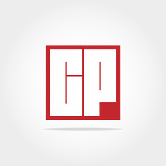 initial letter cp logo design template