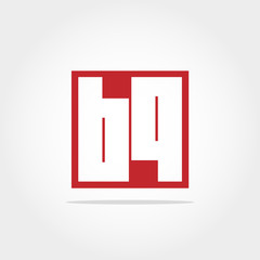 Initial Letter BQ Logo Design Template