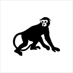 Monkey icon. Vector Illustration