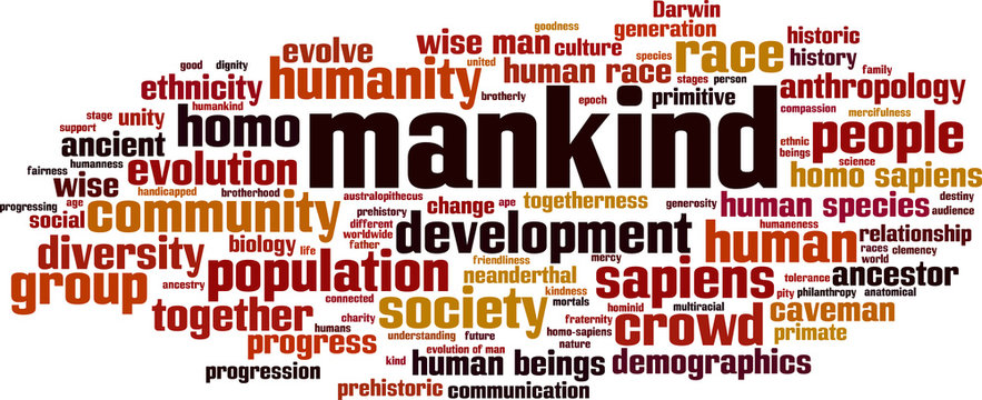 Mankind word cloud