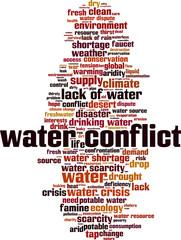 Water conflict word cloud