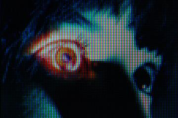 Futuristic New Aesthetic Pixel texture