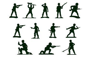 toy green army men soldiers