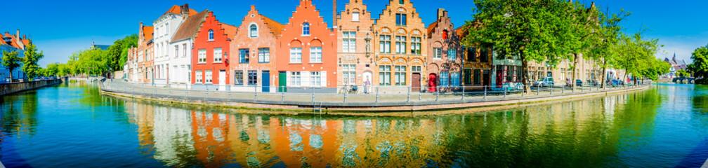 Door stickers Bridges Brugge - Belgium