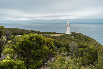 Cape Otway lighthouse photographed at a cloudy day, Cape Otway, Victoria, Australia (11.04.2018)