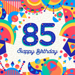85 eighty five year birthday party greeting card