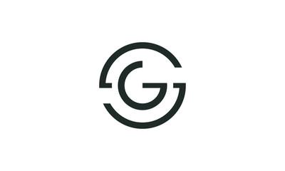 line art letter SG