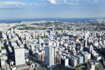 The city scape of YOKOHAMA