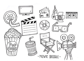 movie, doodle