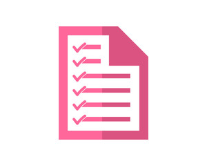 pink paper note business company office corporate image vector icon logo