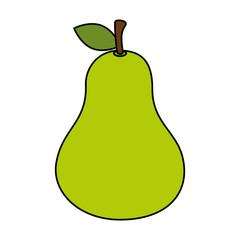 fresh pear fruit icon vector illustration design