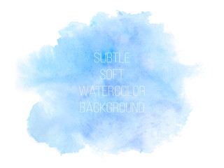 Colorful abstract vector background. Soft blue and  green waterc