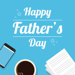 Fathers day design background card