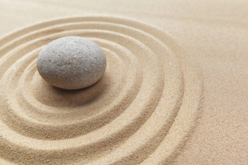 Foto op Plexiglas Stenen in het Zand zen garden meditation stone background