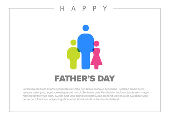 Happy Father's day card template