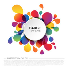 Colorful badge / tag template