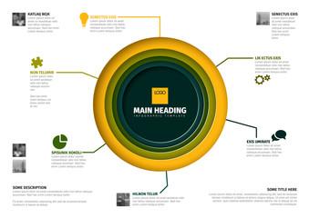 Vector multipurpose Infographic template