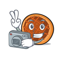 Photographer baket pie mascot cartoon