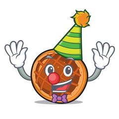Clown baket pie mascot cartoon