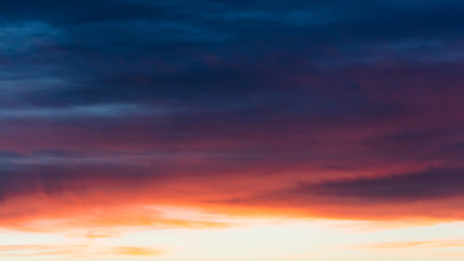 Beautiful clouds at sunset as an abstract background