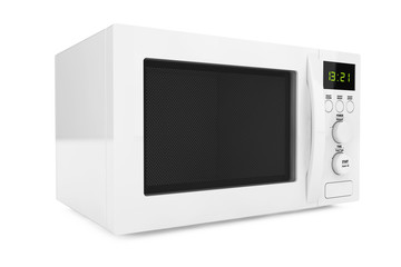 White Microwave Oven. 3d Rendering