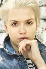 Портрет молодой девушки.