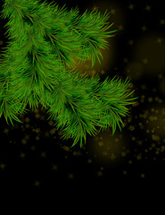Christmas and happy new year background with sparkles and Christmas tree.