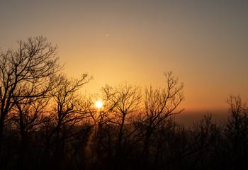 Sunrise blue ridge parkway