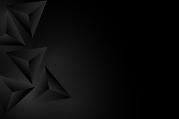 Abstract Triangle Background. 3D Triangles. Modern Wallpaper.