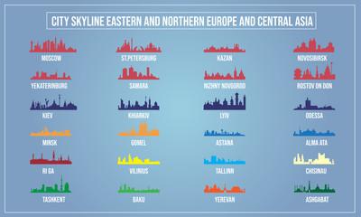 Vector illustration of City skyline.
