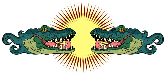Portrait of the Alligator (crocodile)