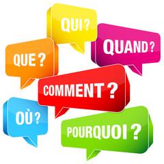 Obraz Speechbubbles Questions France Color - fototapety do salonu