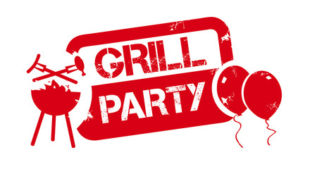 roter Stempel Grillparty