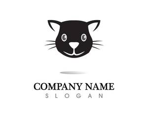 Love cat symbols logo and symbols template